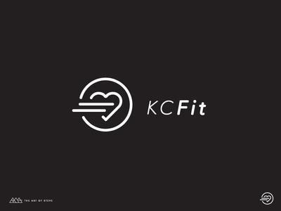 KC Fit Logo autism illustration nonprofit health fit icon logo identity branding