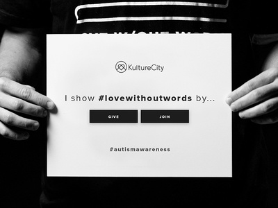 Love Without Words Campaign desktop kulturecity home page landing website words without love awareness autism
