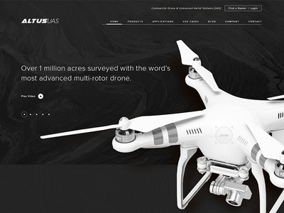 Altus Home Page Concept ui product survey drone landing home website concept altus