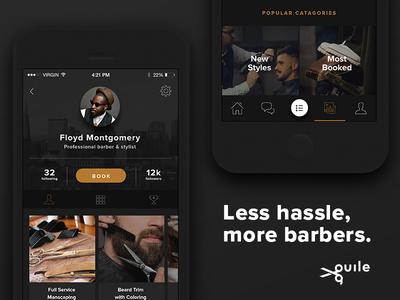 Guile App Landing style barber branding logo icon ux ui mobile website landing app guile