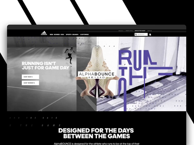 adidas Alphabounce Landing Page campaign launch shoe animation website landing adidas