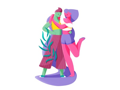 Girls in love scatter vector lesbian pride parade parade pride lgbt rainbow design illustration characterdesign