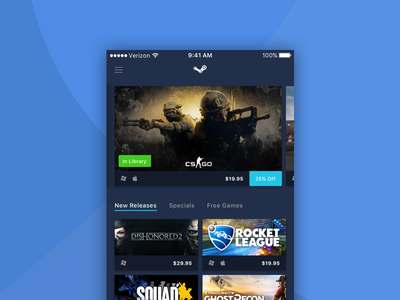 Steam Mobile - Blue user interface ui blue mobile steam