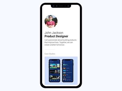 Portfolio Update mobile portfolio