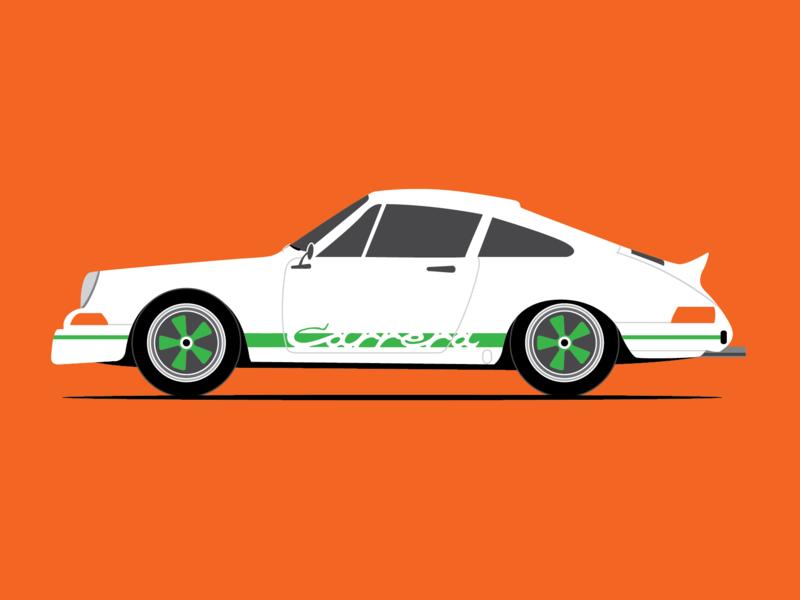 1973 Porsche 911 Carrera RS 2.7 Vector