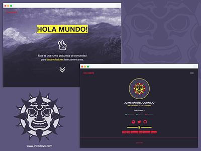 Incadevs - Dev community web design