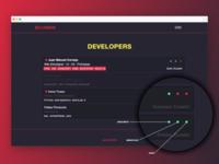 Incadevs - Devlist with color coded, realtime status