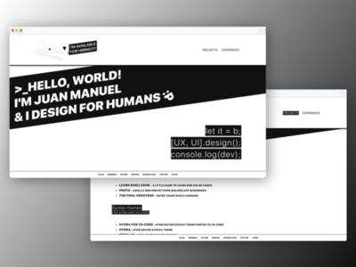 juanmnl.com - 2018 branding personal website