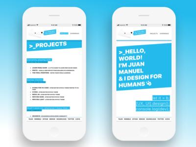 juanmnl.com - 2018 Mobile Website personal branding web website mobile
