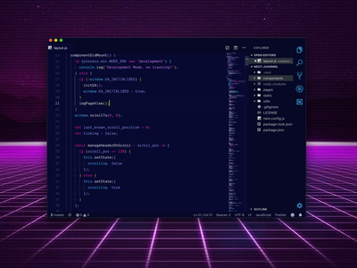 1984 Syntax Theme neon glow syntax code 80s style colors