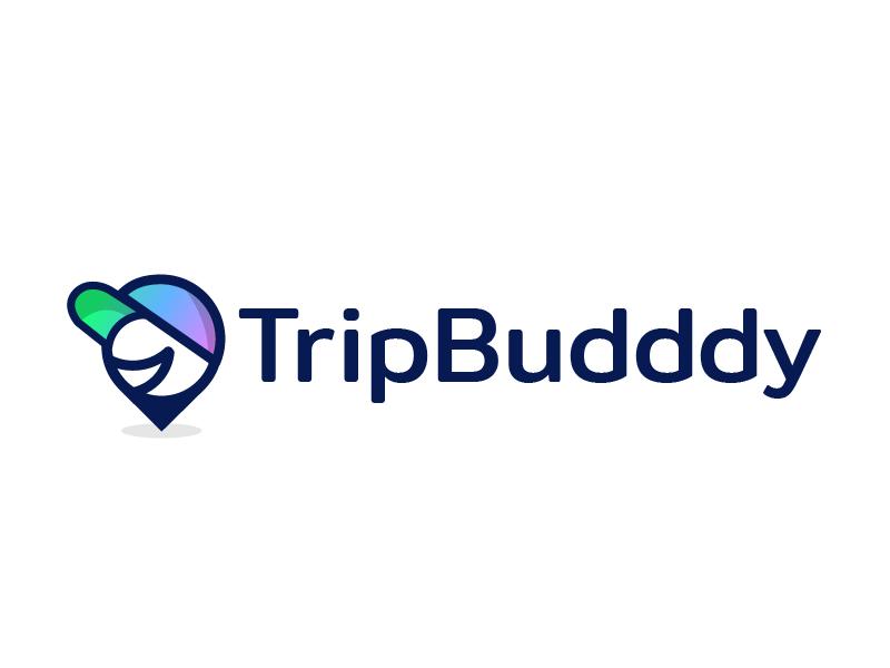 TripBudddy Logo Option 2 trip travel sharing people logo location friends friendly