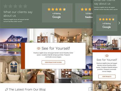 Construction Site blog reviews green desktop mobile responsive web design ui design ui gallery construction website