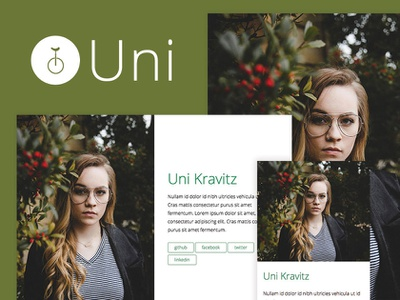 Uni – A One-Page Jekyll Theme landing simple green minimal jekyll theme theme jekyll