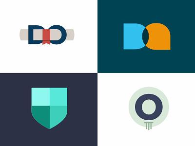 Do Marks flat geometric column degree shield higher education higher ed icons logomarks logomark icon logo