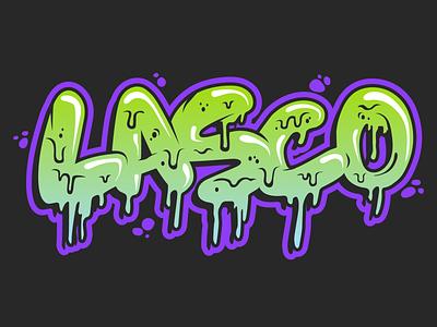 LASCO Logo rad illustration bubbles slime boogers gross green bright drippy drips logo