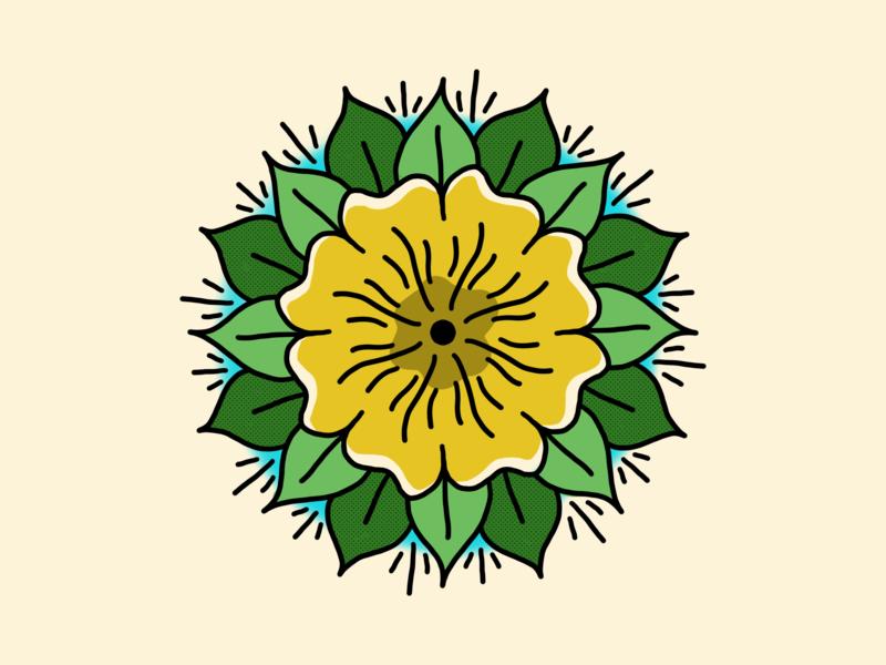 Primrose Flash procreate tattoo flash tattoo primrose flower