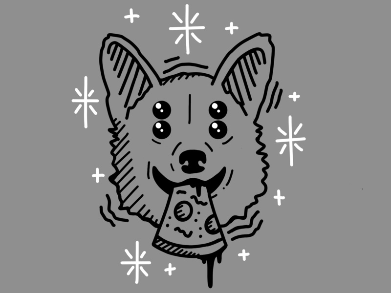 Good boy corgi procreate illustraion dog