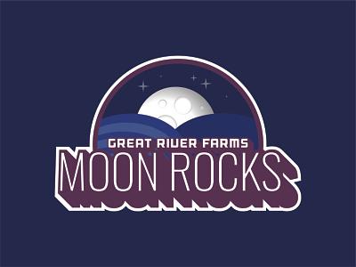 Moon Rocks Design cbd weed space moon logo design logo label