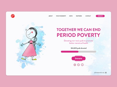 Period Poverty - Landing Page