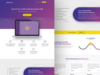 Website UI for Saas Based Tool gradient landing page ux design gradient design landing page design homepage design saas website saas website ui website design