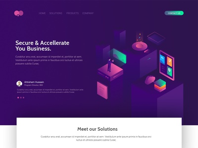 Isometric Design hero image illustration isometric