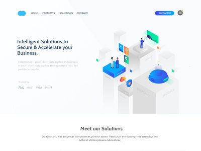 Light Version Isometric isometric ui homepage design isometric landing page website design landing page ui