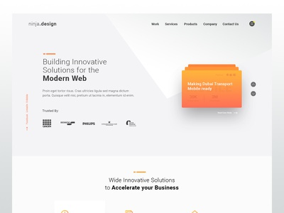 Agency Landing Page homepage ui landing page agency website agency