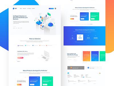Homepage Redesign gradient landing page ui homepage