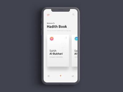 Hadith App iphone x islamic art islamic app ui islam sunnah hadith