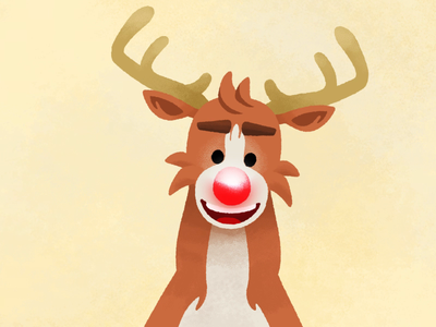Rudolph the 'led' nosed reindeer (sound on!) digitalart wacom cintiq brushes wacom character motiongraphics keyframe santa christmas xmas nose red photoshop aftereffects illustration sketch animation rudolph reindeer