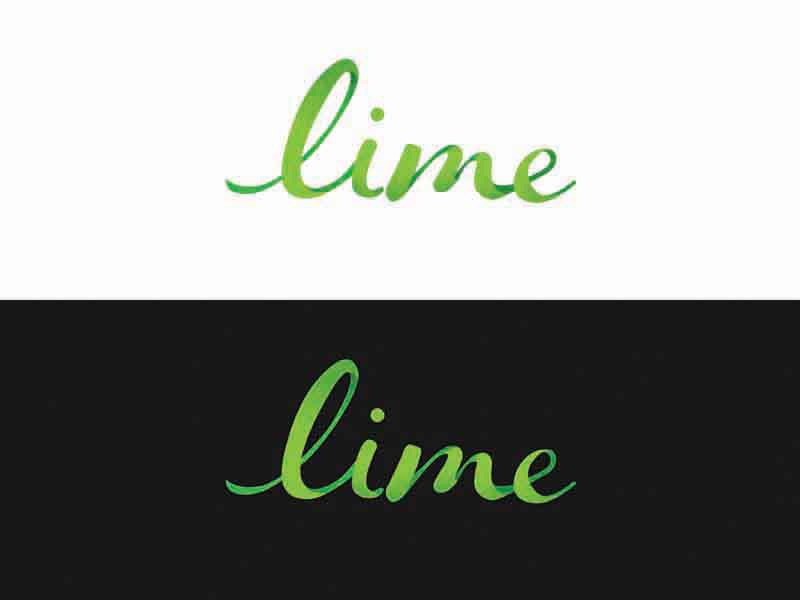 Rhine Lime  typography type lime