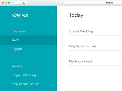 Gotta Love Timesheets menu online website track dashboard web product design