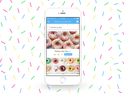 Donuts on Demand mobile app ios iphone ux ui