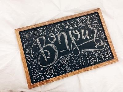 Bonjour! sketch typography type chalk
