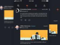 Dark UI Social App