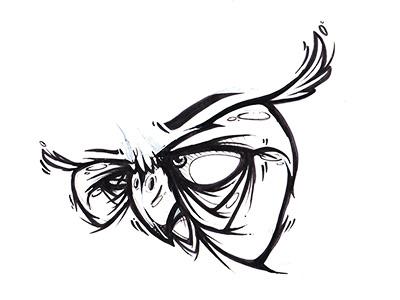 Cybirds face bird face sketch cybe cybirds owl