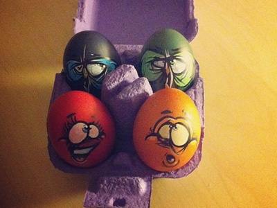 Happy Easter happy easter eggs