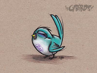 Little Bird cybe bird birdnerd illustration