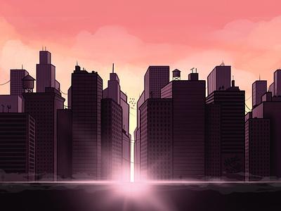 City Background procreate digitalart illustration cybe cybirds