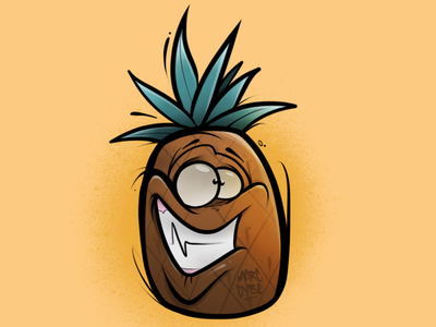 This that pineapple procreate character illustration cybe cybirds