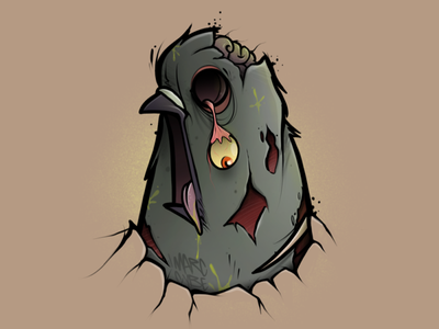 Zombie Dove zombie character illustration cybe cybirds