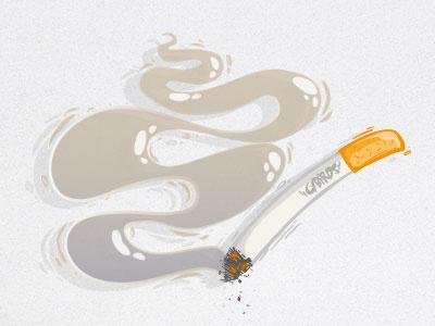 smokey smoke cigarette vector cybe cybirds illustrator illustration