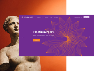 Plastic surgery website design website violent medicine plastic surgery design ux ui web design web