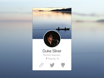 Profile Card first rebound duke silver parks and recreation dribbble trend