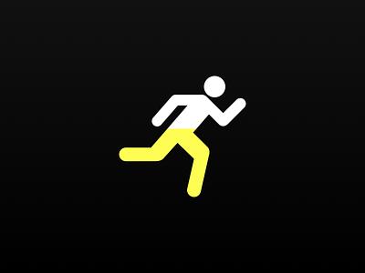 Logo Design runpee flat logo design