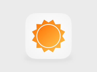 AccuWeather Icon iOS 7 rebound accuweather icon practice