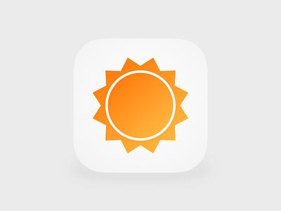 AccuWeather Icon iOS 7 rebound accuweather icon practice
