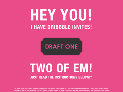 Invites Up for Grabs!