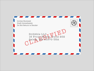 Invite Contest Winners dribbble invites fun winners classified priority mail