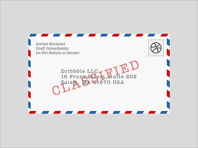 Invite Contest Winners dribbble invites fun winners classified priority mail